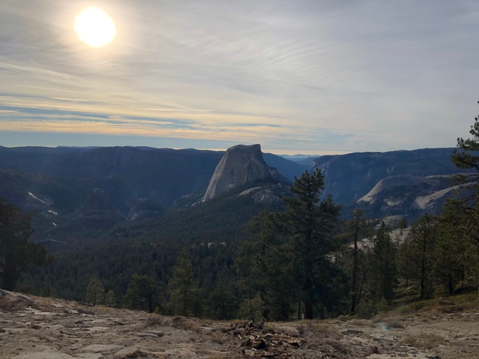 view of halfdome cloudsrest
